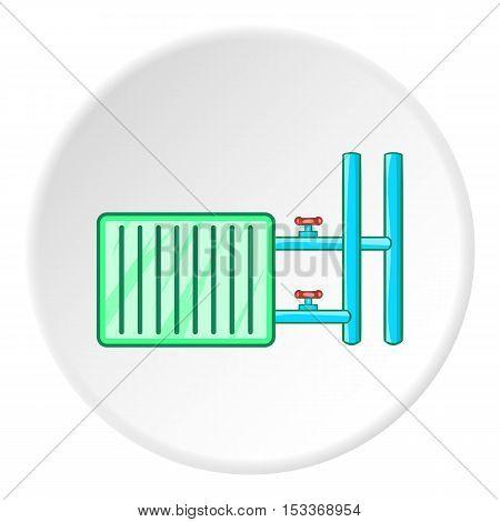 Radiator icon. Cartoon illustration of radiator vector icon for web