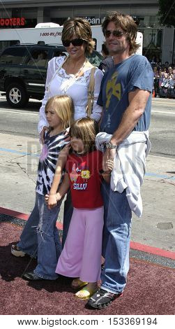 Harry Hamlin, Lisa Rinna and kids at the Los Angeles premiere of 'Charlie and the Chocolate Factory' held at the Grauman's Chinese Theatre in Hollywood, USA on July 10, 2005.