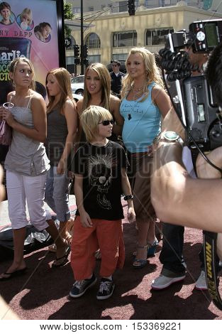 Britney Spears and younger sister Jamie Lynn Spears at the Los Angeles premiere of 'Charlie and the Chocolate Factory' held at the Grauman's Chinese Theatre in Hollywood, USA on July 10, 2005.