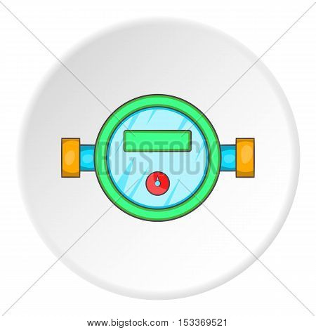 Water meter icon. Cartoon illustration of water meter vector icon for web