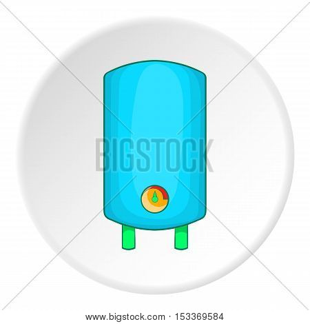 Boiler or water heater icon. Cartoon illustration of boiler or water heater vector icon for web