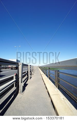 Nizhny Novgorod, Russia. - June 28.2016. Metro Bridge Across The Oka River.