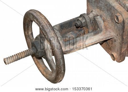 old metal pipe on a white background