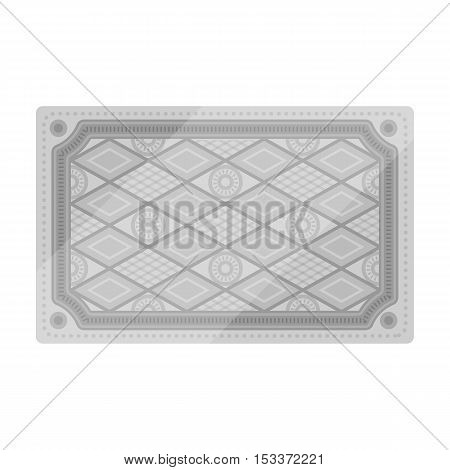 Turkish carpet icon in monochrome style isolated on white background. Turkey symbol vector illustration.