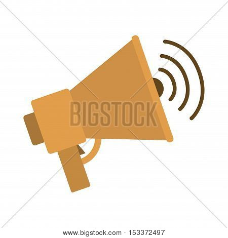 speaker audio device with sound waves icon over white background. vector illustration