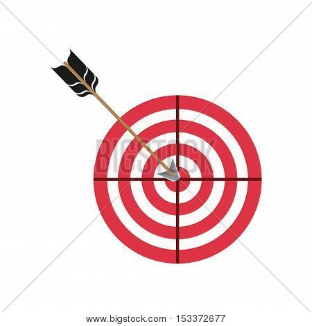 round target with arrow. strategy symbol. vector illustration