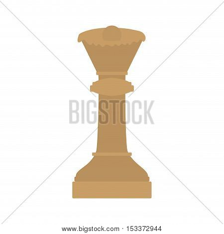 queen chess game piece icon over white background. strategy gaming design. vector illustration