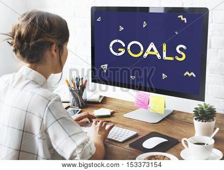 Brand Goals Launch Startup Success Vision Concept
