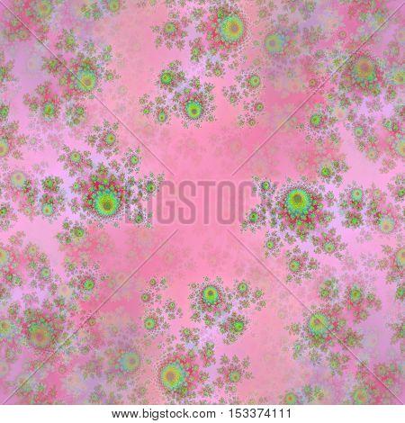 Soft pink background with flower design decoration l