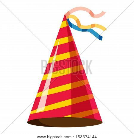 Party hat icon. Isometric 3d illustration of party hat vector icon for web