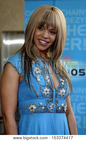 Faith Evans at the 2005 BET Awards held at the Kodak Theater in Hollywood, USA on June 28, 2005.