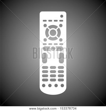 Simple Flat Remote control icon on gray background