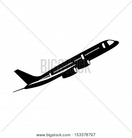 airplane isolated pictogram image vector illustration design