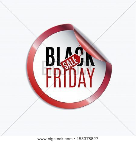 Black Friday sale design template. Creative banner. Vector illustration, marketing price tag, discount, advertising. Abstract vector illustration for shopping.