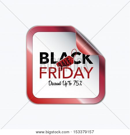 Black Friday sale design template. Creative banner. Vector illustration, marketing price tag, discount, advertising. Abstract label vector illustration for shopping.
