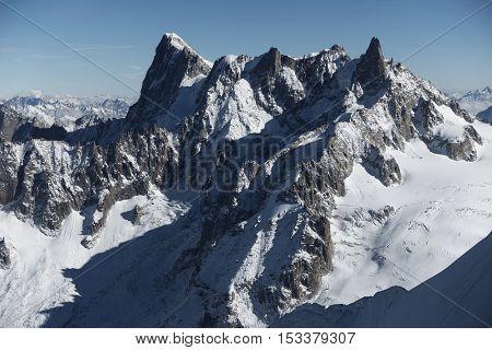 Les Grandes Jorasses in Haute Savoie, France