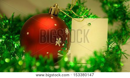 beautiful holiday tinsel for Christmas or New Year on blue background