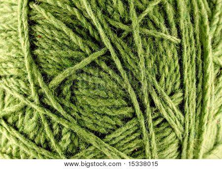 Close up of woolen knittin ball