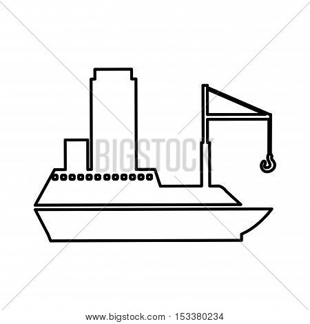 cargo ship icon pictogram image vector illustration design