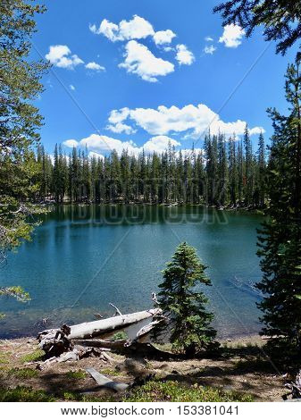 Twin Lake, in the Caribou Wilderness area of Northern California