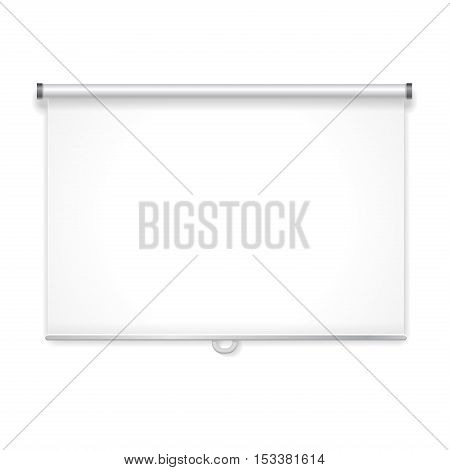 Empty projection screen for advertising vector isolated