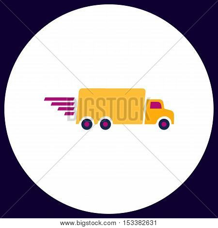 Fast Delivery Simple vector button. Illustration symbol. Color flat icon