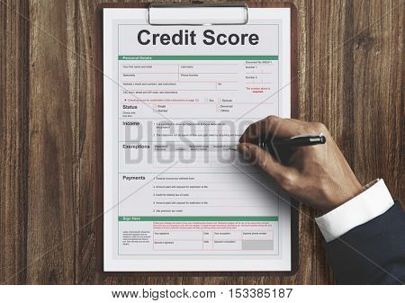 Credit Score Financial Banking Economy Concept