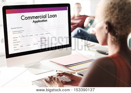 Commercial Loan Application Form Concept