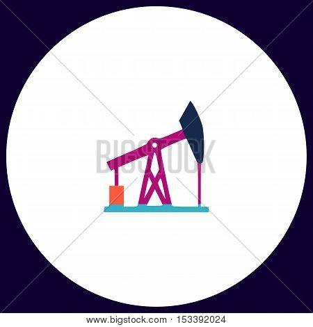 oil pump Simple vector button. Illustration symbol. Color flat icon