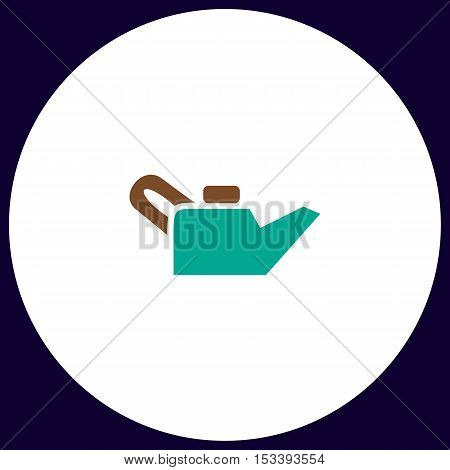 Engine oil Simple vector button. Illustration symbol. Color flat icon