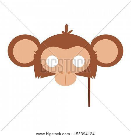 Cartoon animal party mask vector.