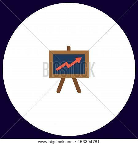 billboard Simple vector button. Illustration symbol. Color flat icon