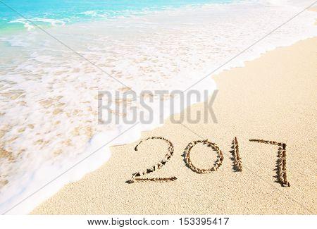 Celebrating 2017 On A Tropical Beach