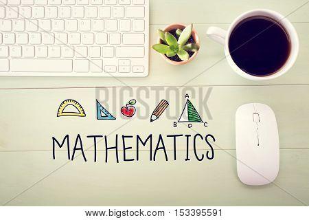 Mathematics Concept With Workstation