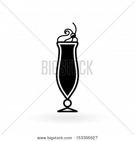 vector icon of glasses for cocktail flat style