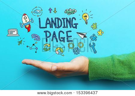 Landing Page Concept With Hand