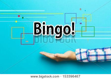 Bingo Concept With Hand