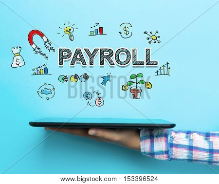 Payroll Concept With A Tablet