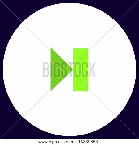 Next track linear button Simple vector button. Illustration symbol. Color flat icon