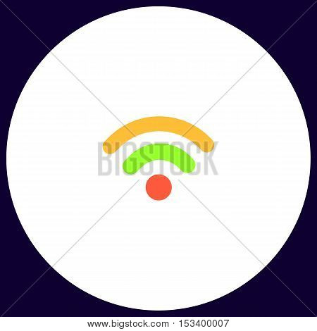 Podcast Simple vector button. Illustration symbol. Color flat icon