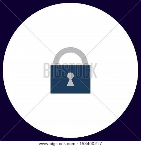 Padlock Simple vector button. Illustration symbol. Color flat icon