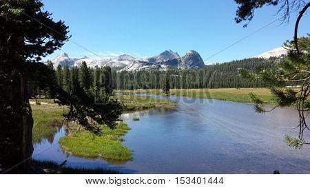 Tuolumne Meadows and the Tuolumne river in Yosemite National Park