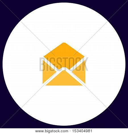 mail Simple vector button. Illustration symbol. Color flat icon