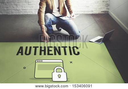 Authorize Protected Verification Privacy Security Concept