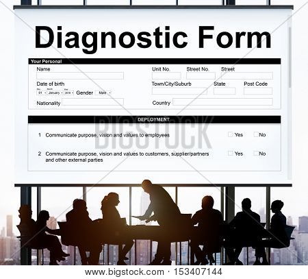 Diagnostic Form Health Hospital Symptoms Result Concept