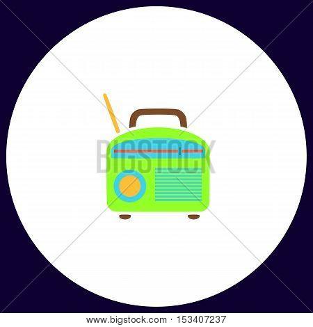 Radio Simple vector button. Illustration symbol. Color flat icon