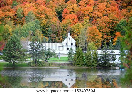 Danville Vermont church from Joe's pond
