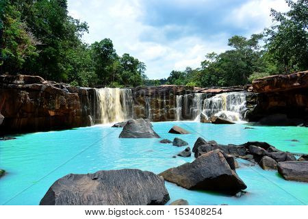 Natural View of Waterfall in Tadton National Park at Chaiyaphum Province Thailand
