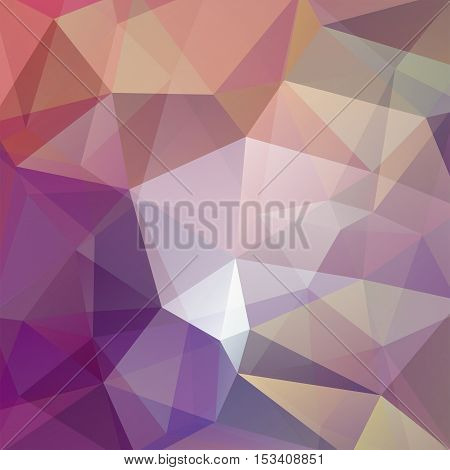 Abstract Background Consisting Of Beige, Purple, Brown Triangles. Geometric Design For Business Pres