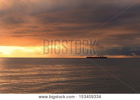 Sun Shining On Tanker